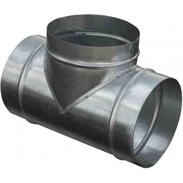 Круглый тройник из оцинкованной стали  (цена за м2)