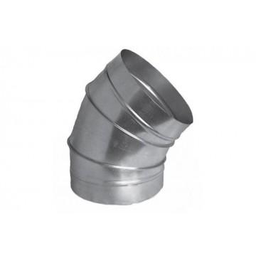Отвод 45 градусов круглый из оцинкованной стали  (цена за м2)