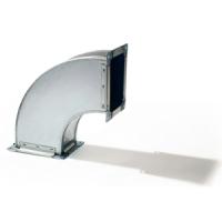 Отвод 90 градусов прямоугольный из оцинкованной стали