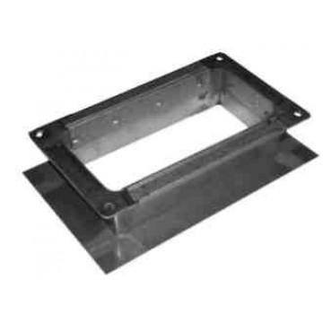 Врезка прямоугольная из оцинкованной стали  (цена за м2)