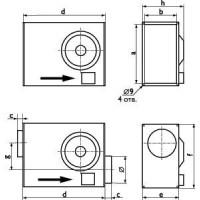 Канальные вентиляторы Ostberg для прямоугольных каналов  RK 600x350 | RKC 355